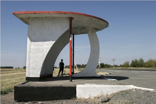 Soviet Roadside Bus Stops